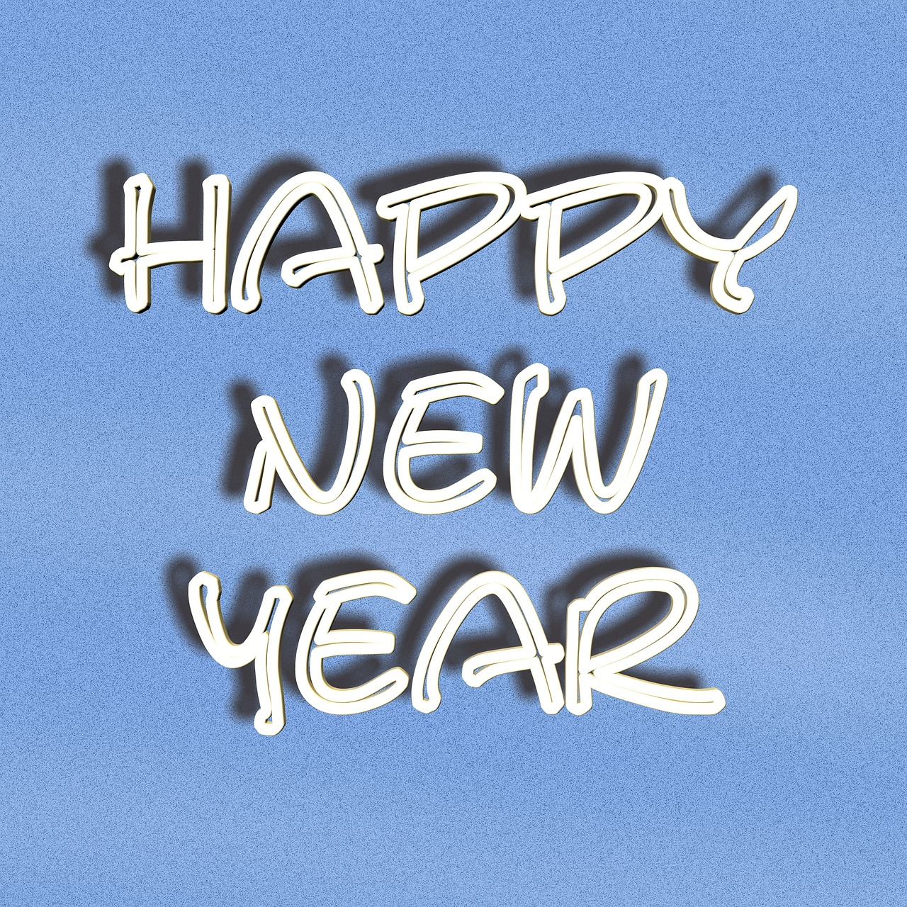 font lettering happy new year free photo