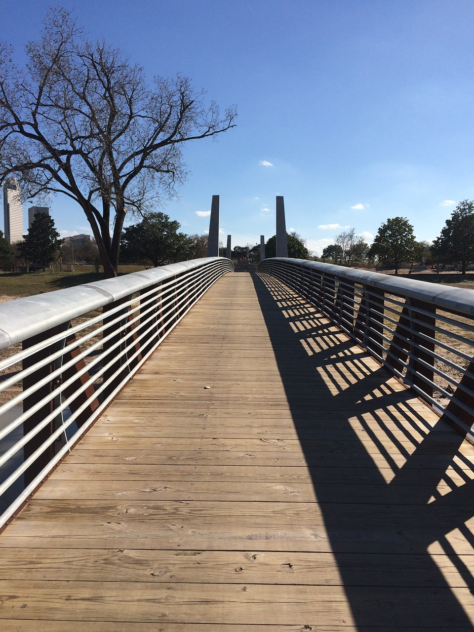 foot bridge houston buffalo bayou free photo