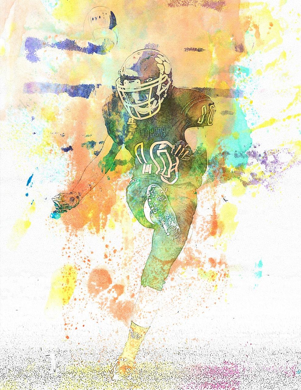 Abstract Art Football