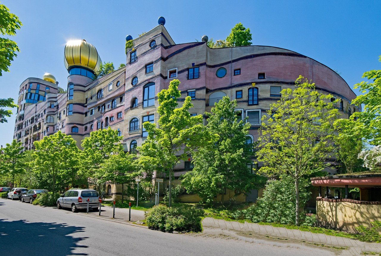 forest spiral,hundertwasser house,friedensreich hundertwasser,art,architecture,places of interest,building,darmstadt,hesse,germany,europe,free pictures, free photos, free images, royalty free, free illustrations, public domain