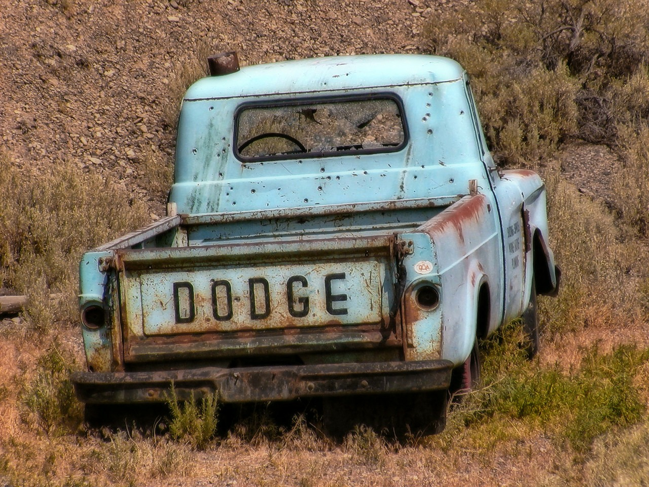 forgotten,old,truck,dodge,blue,rusty,automobile,car vehicle,free pictures, free photos, free images, royalty free, free illustrations, public domain