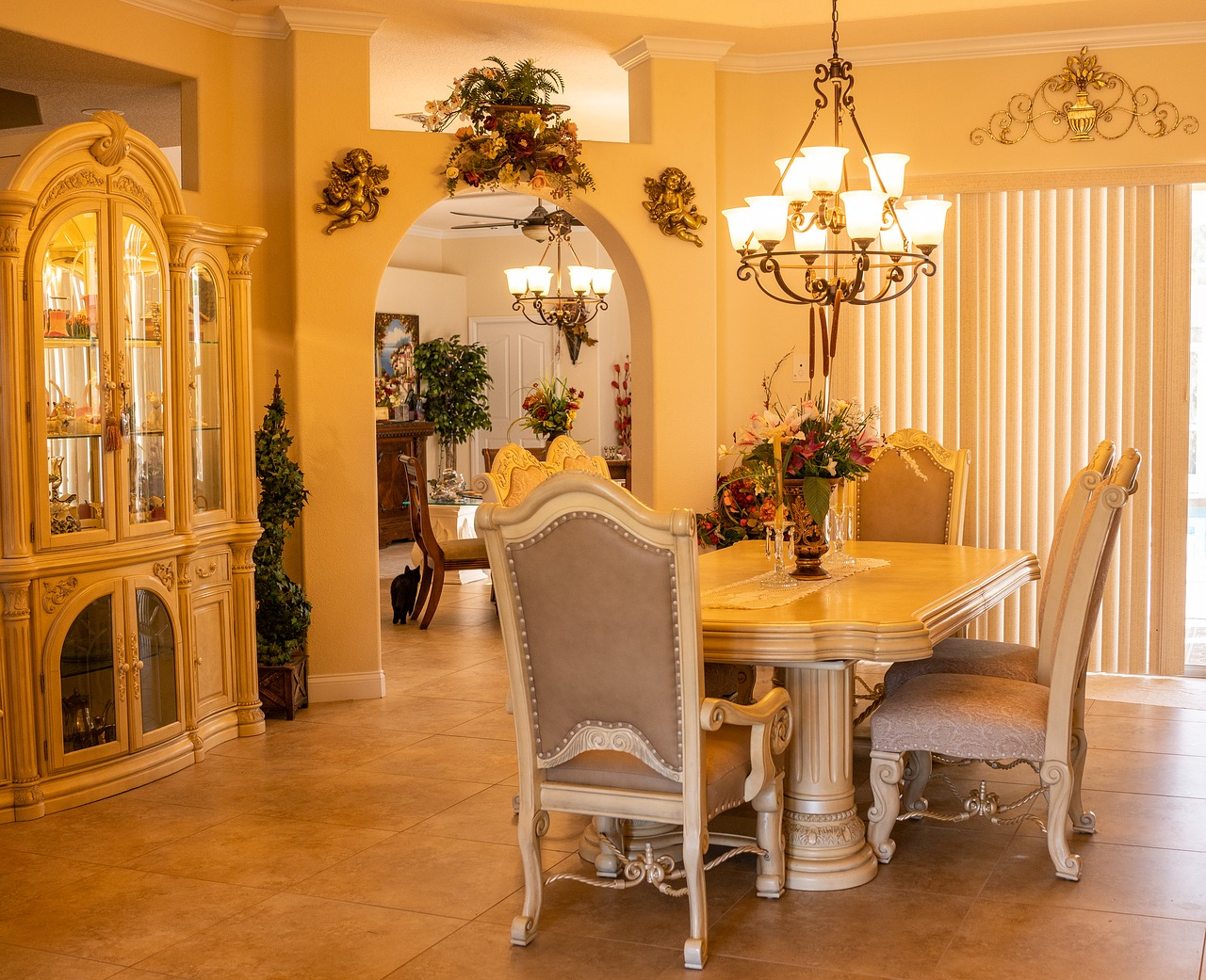 formal dining room  interior design  dining free photo