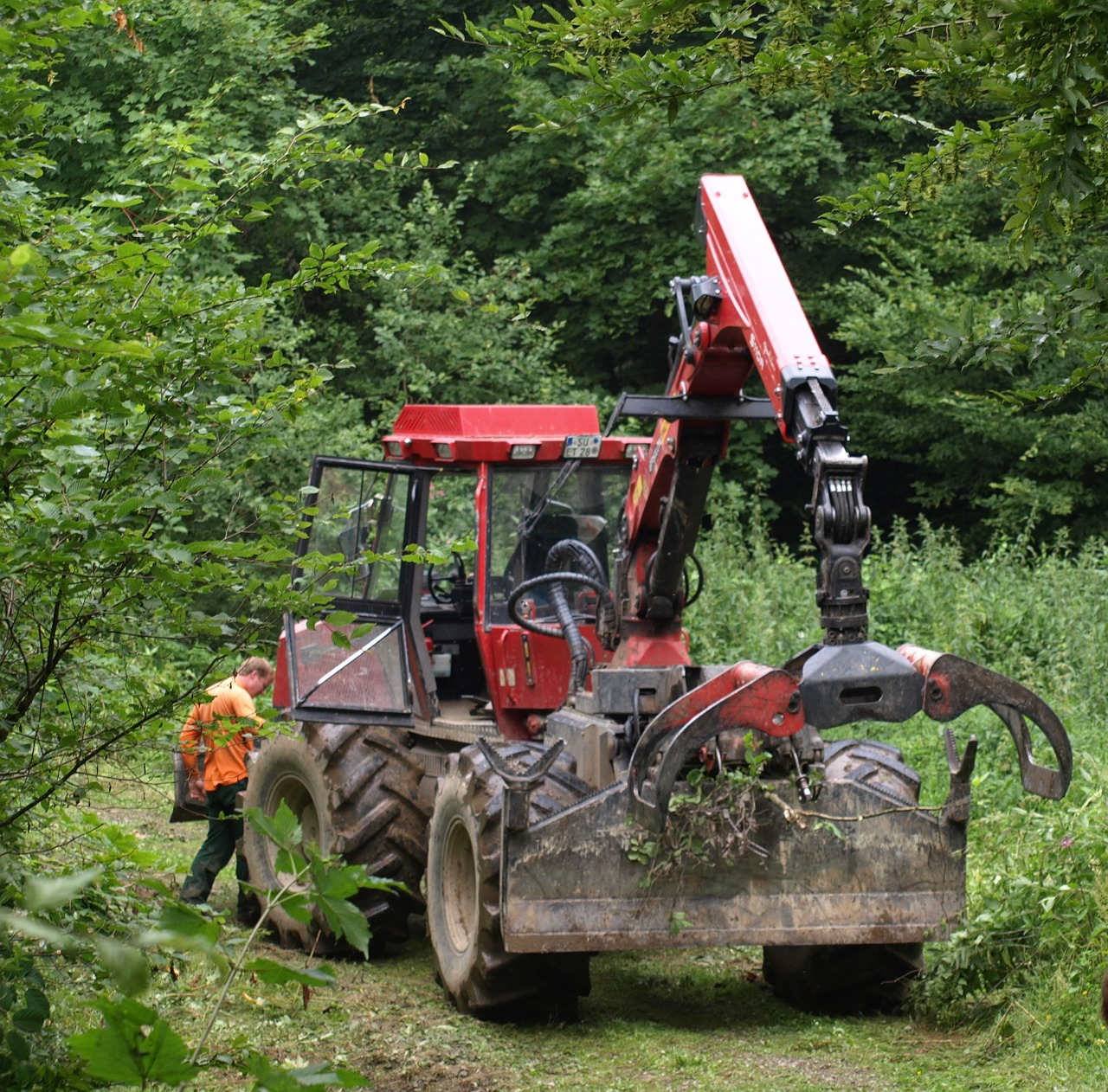 fort bend tug forestry work machine free photo