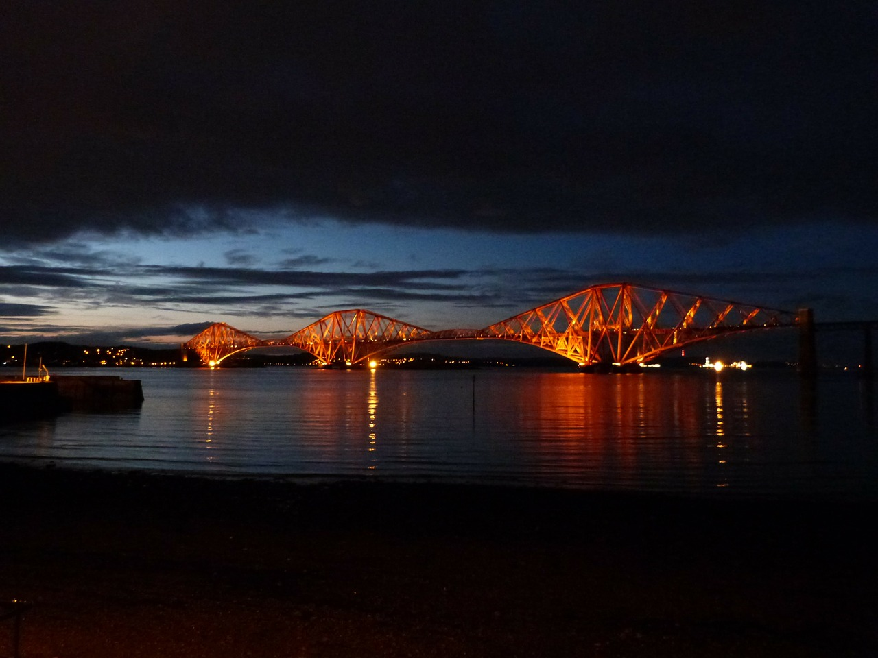 forth road railway bridge railway bridge scotland free photo
