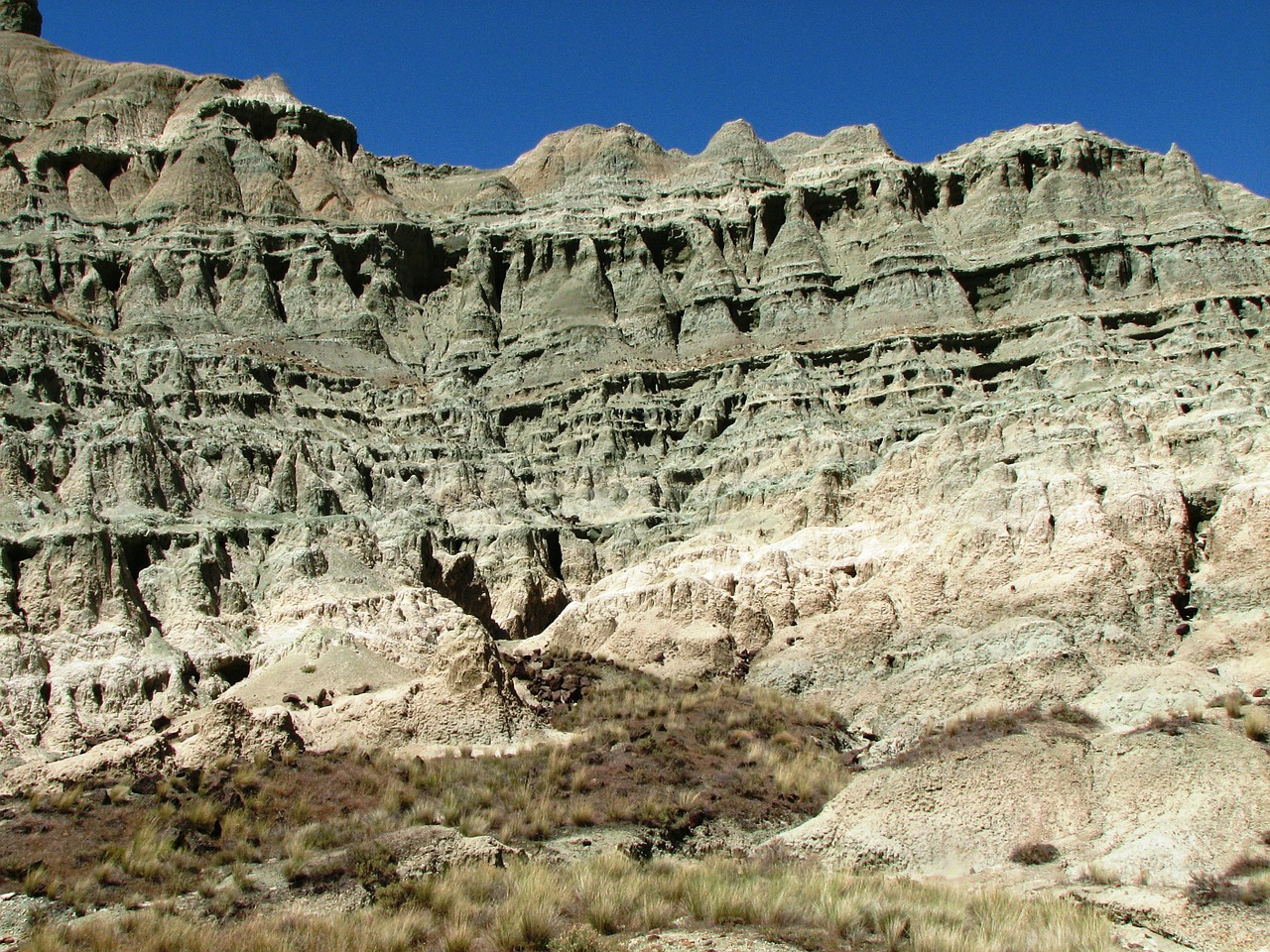 fossil beds,geological,rock formation,john day,national monument,oregon,usa,eastern,green rock,rock layers,free pictures, free photos, free images, royalty free, free illustrations, public domain