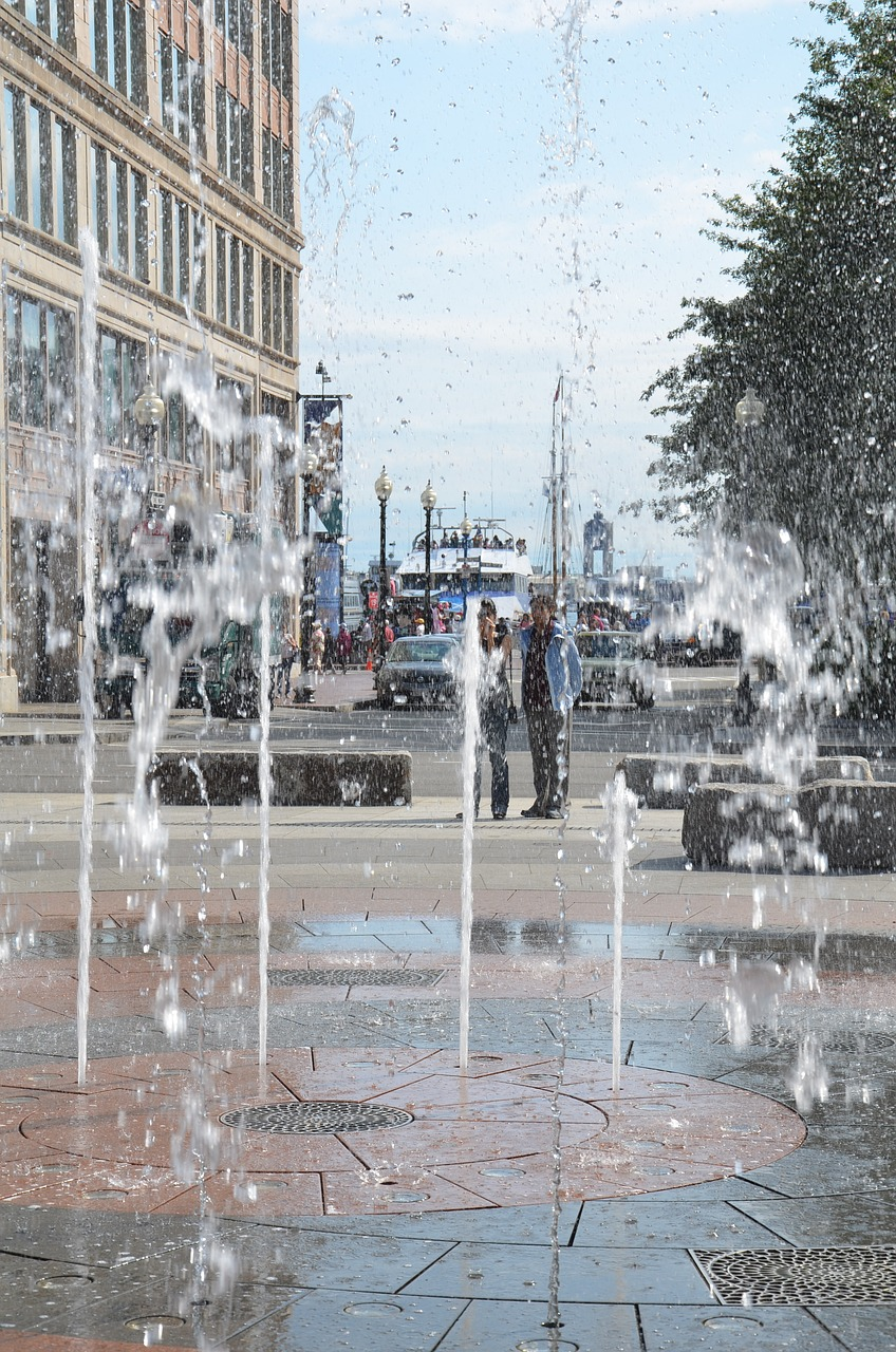FOUNTAIN WATER BOSTON WATER JET BASIN FREE PHOTO FROM
