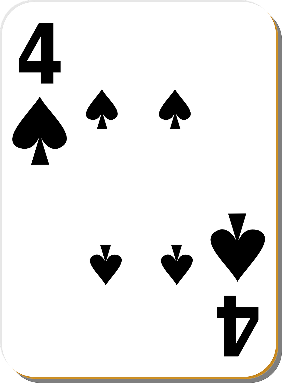 four,spades,playing cards,4,poker,play,gamble,spade,recreation,free vector graphics,free pictures, free photos, free images, royalty free, free illustrations, public domain