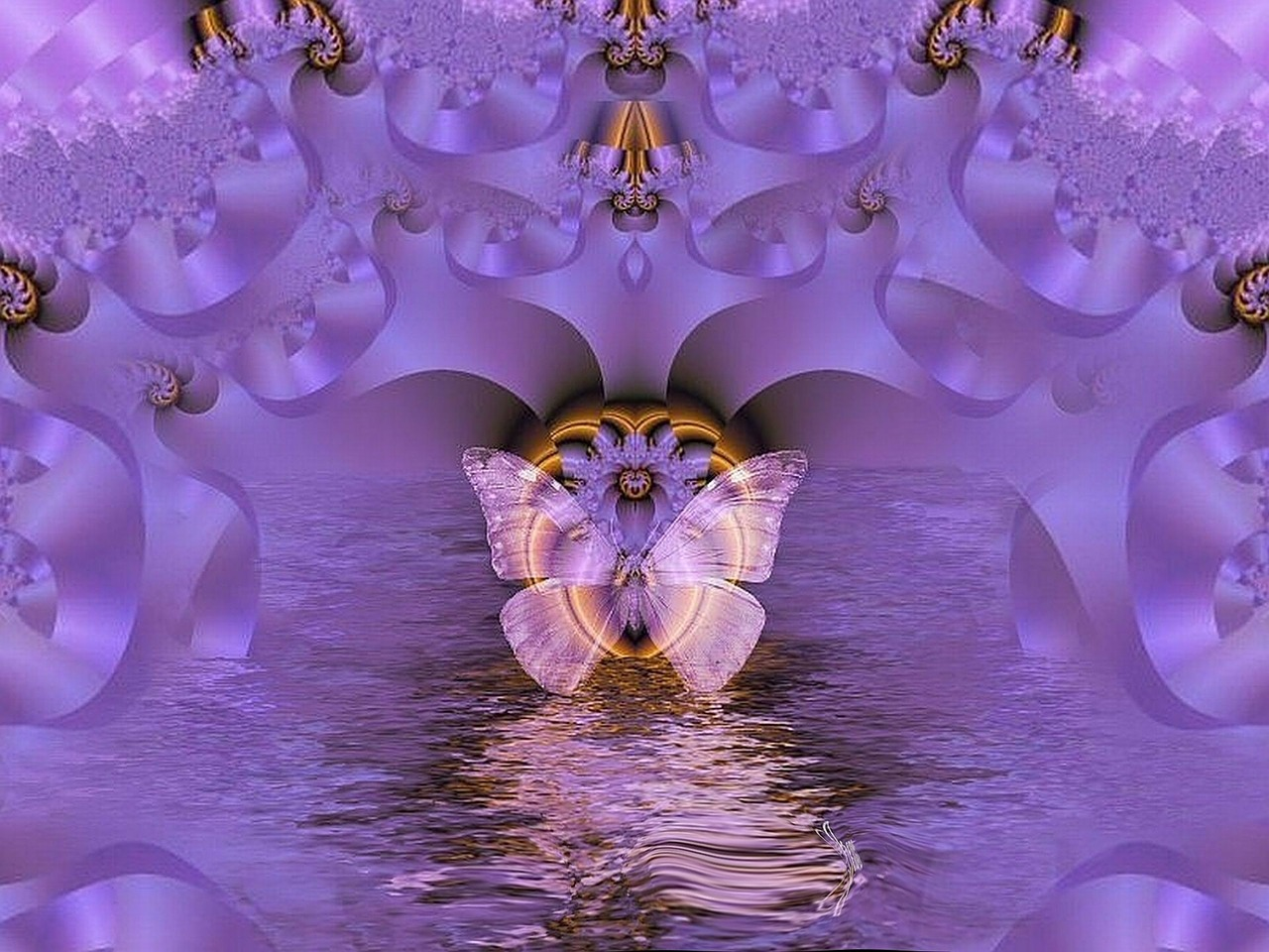 fractal reflection graphic free photo