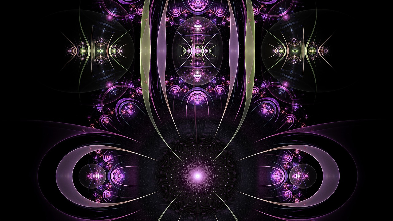 fractal purple elements free photo