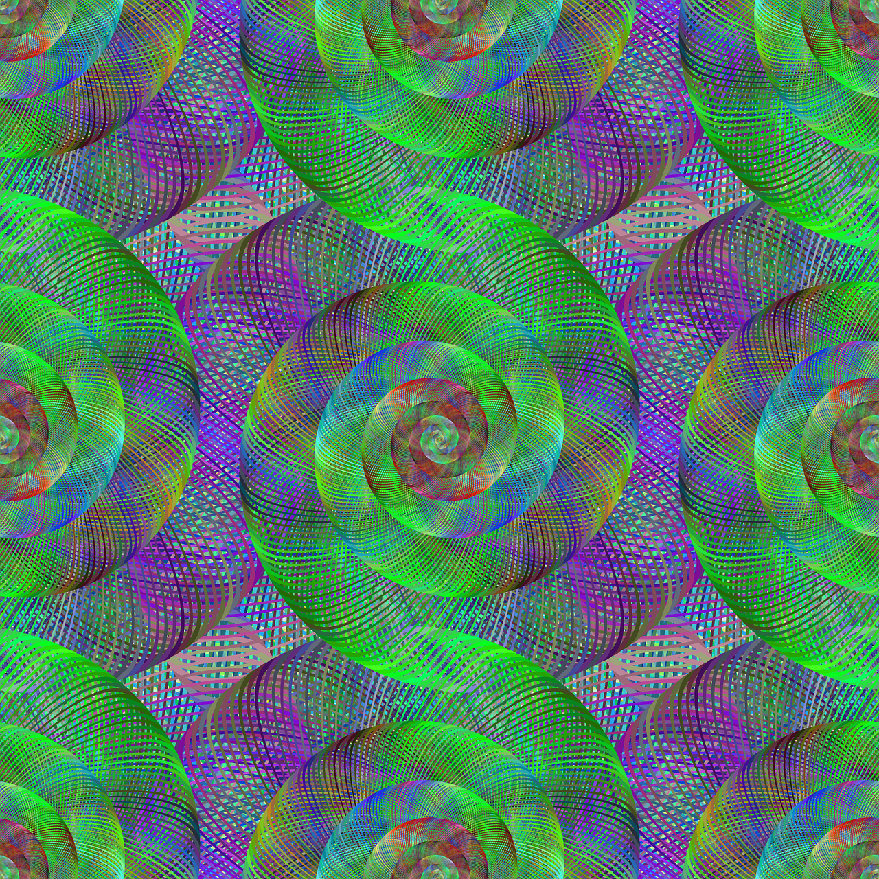 fractal spiral swirl free photo