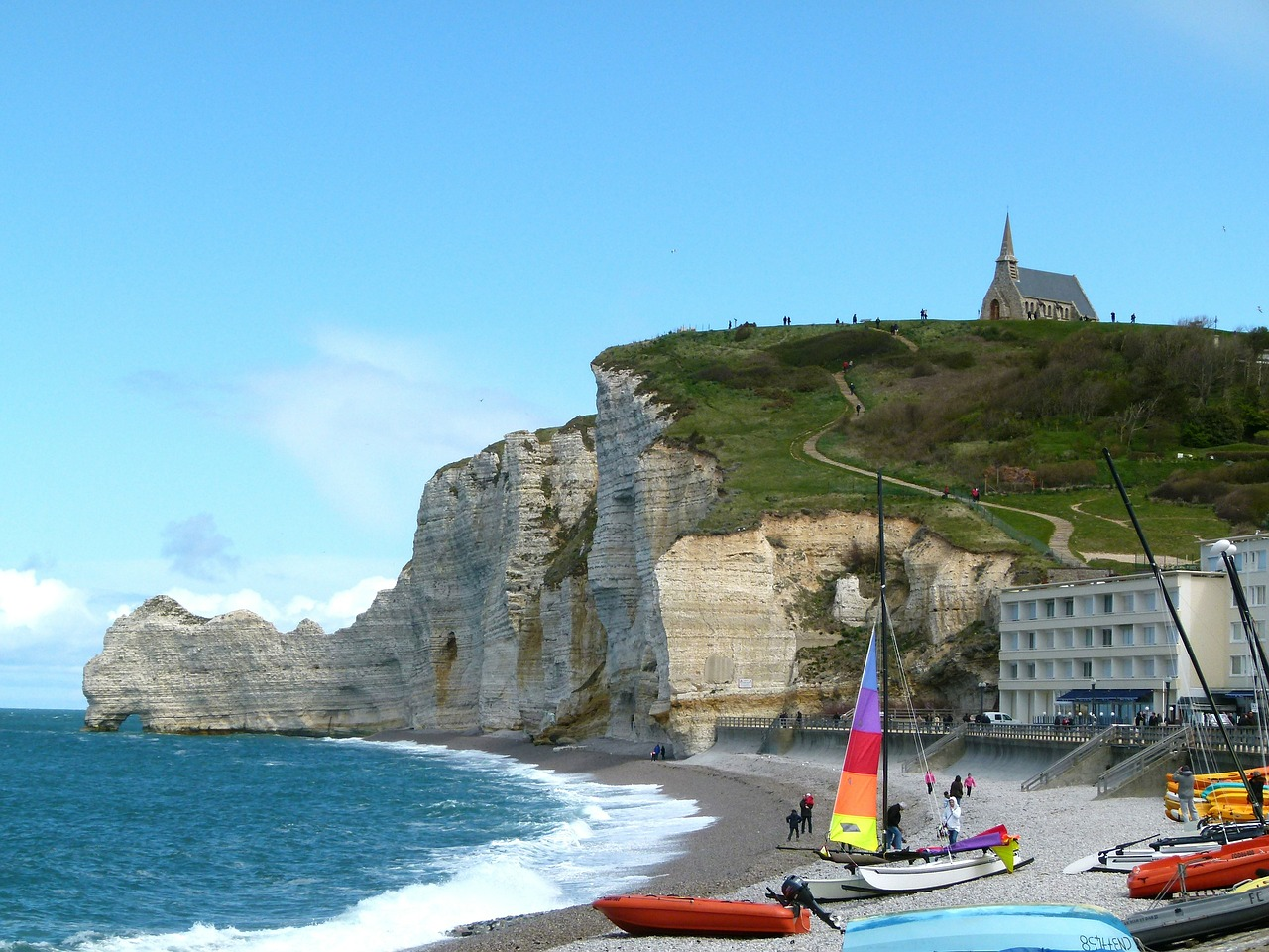 france cliffs sky free photo