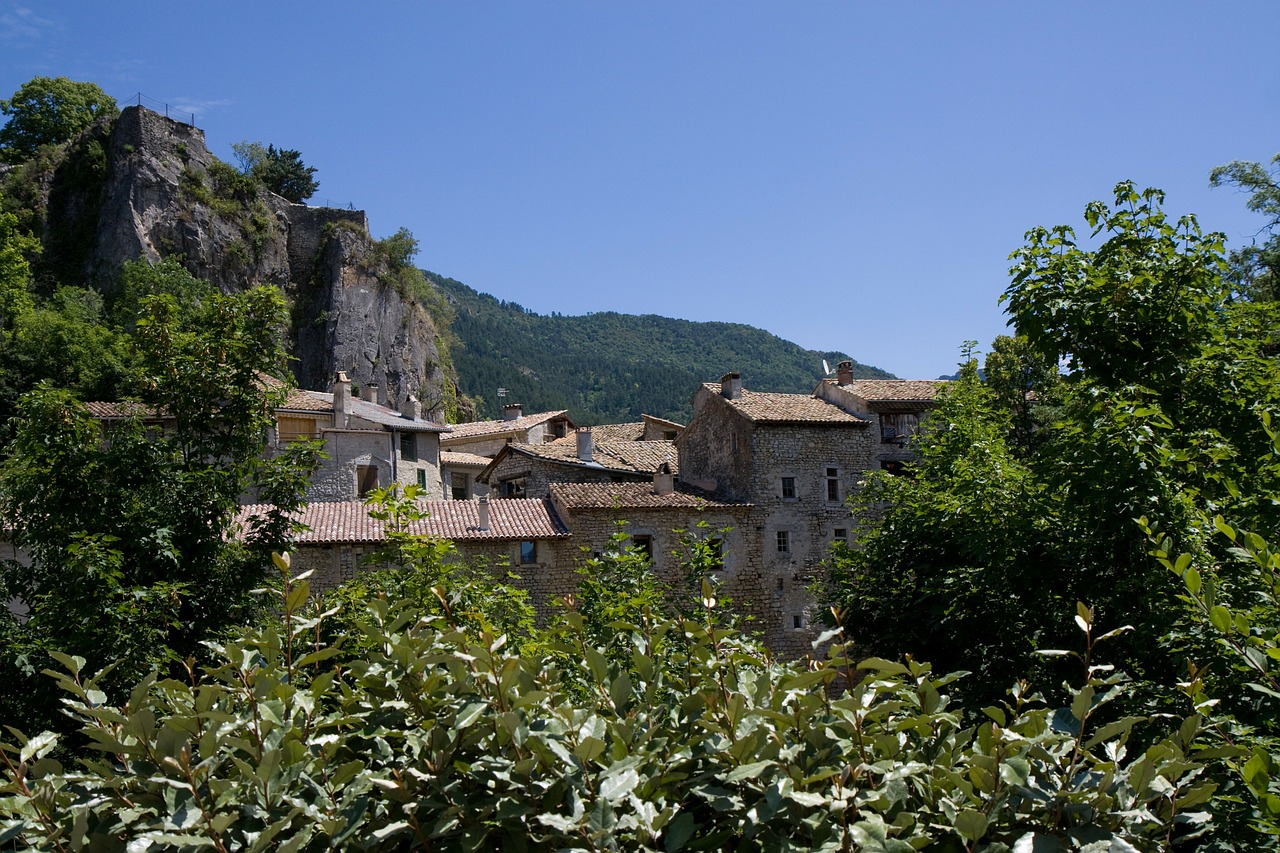 france chatillon-en-diois village free photo