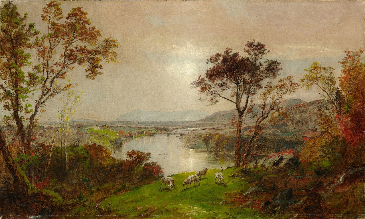francis cropsey painting oil on canvas free photo