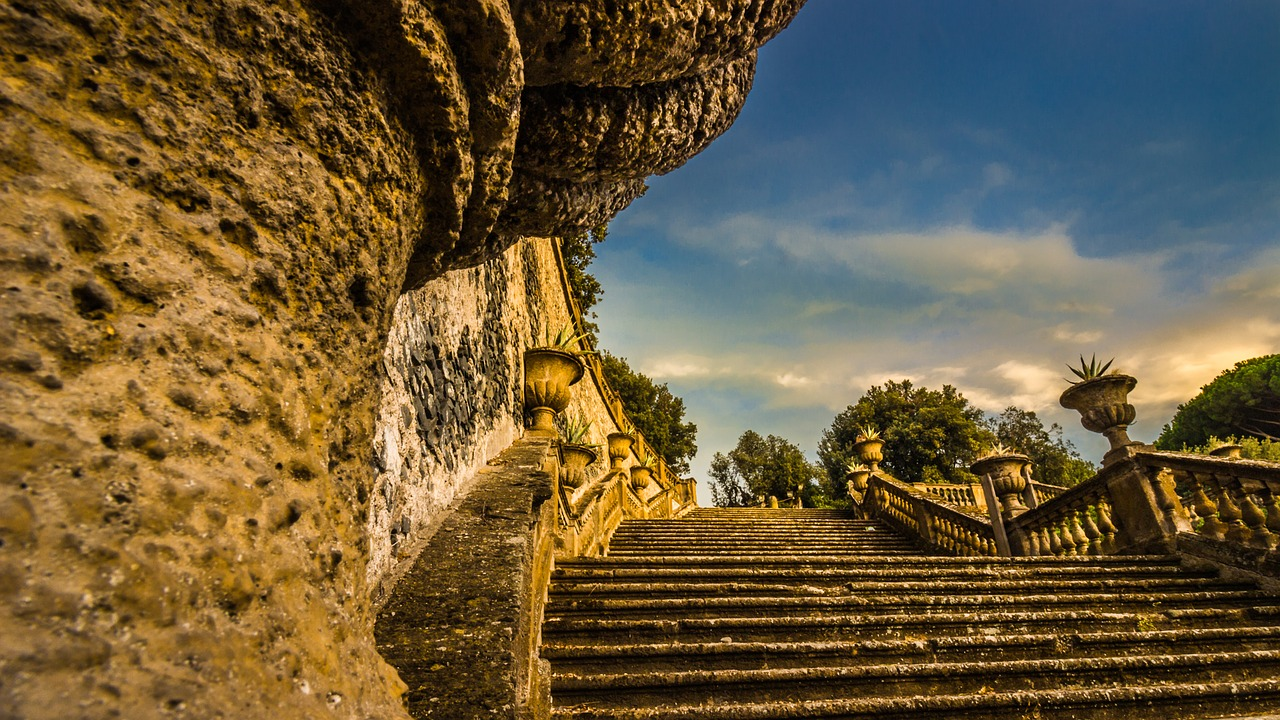 frascati rome stairs free photo