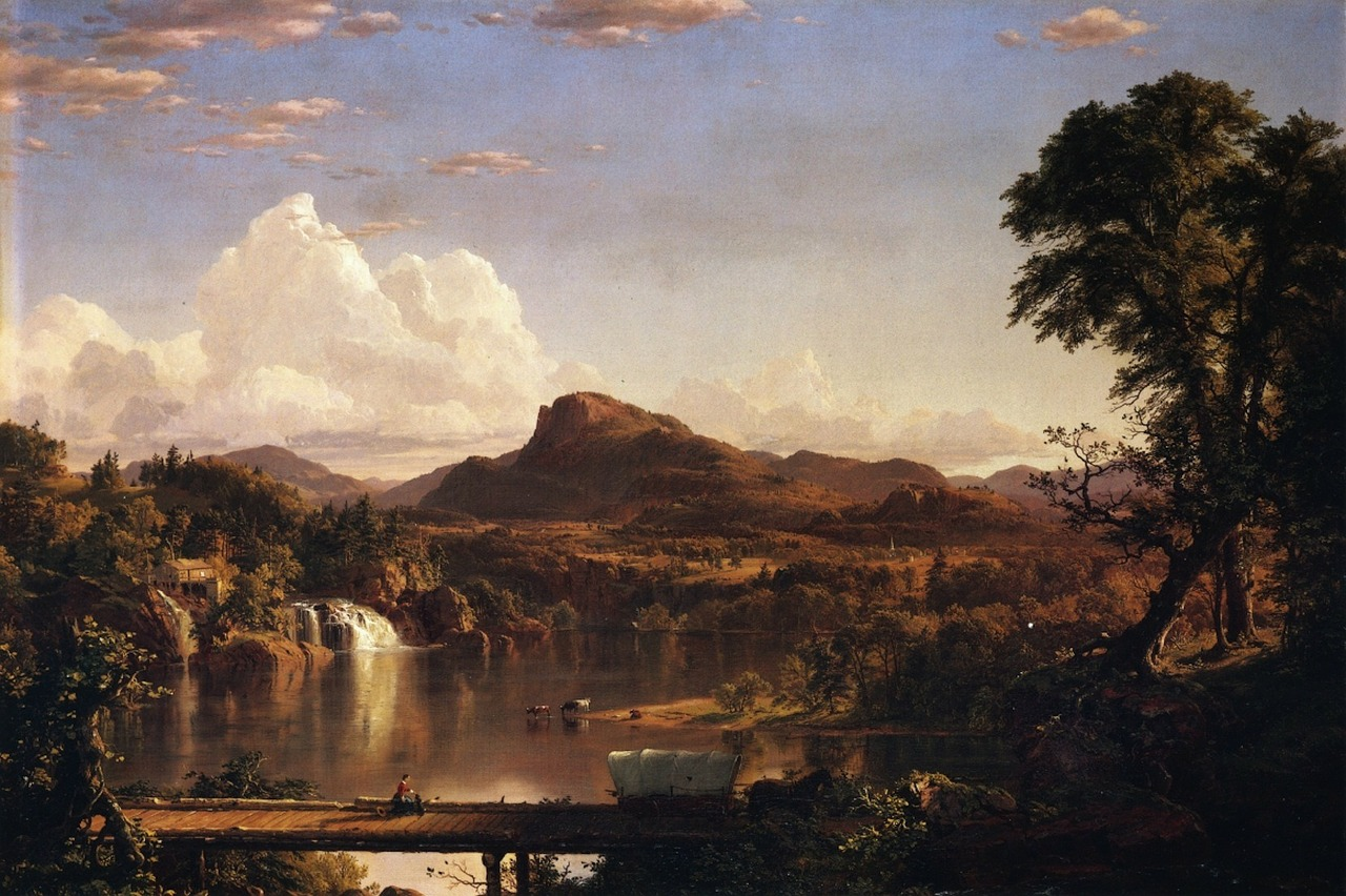 frederic church landscape painting free photo
