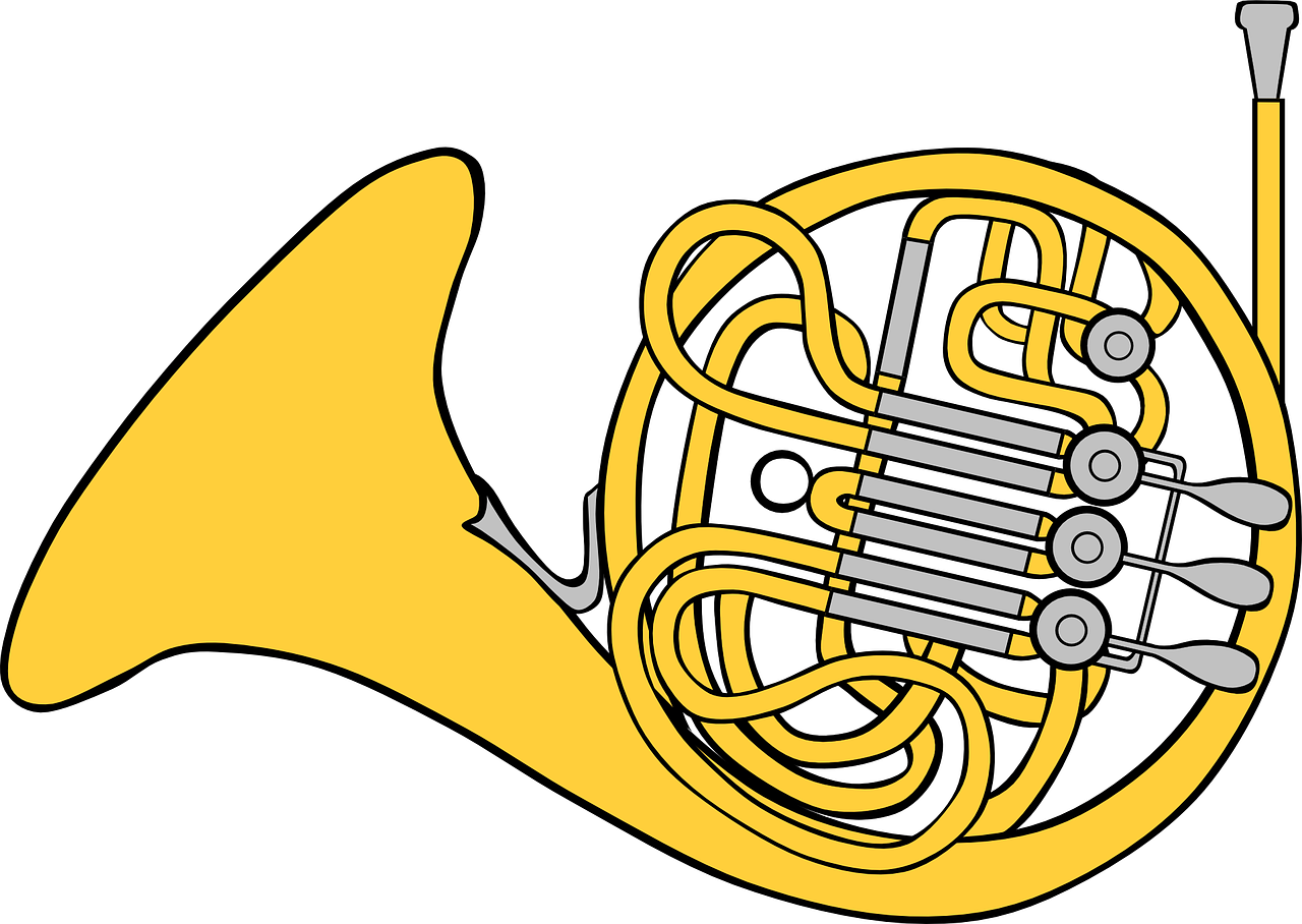 french horn musical free photo