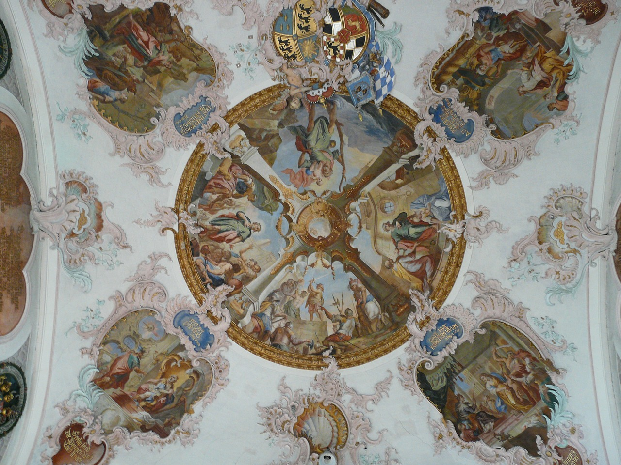 fresco cover painting church free photo