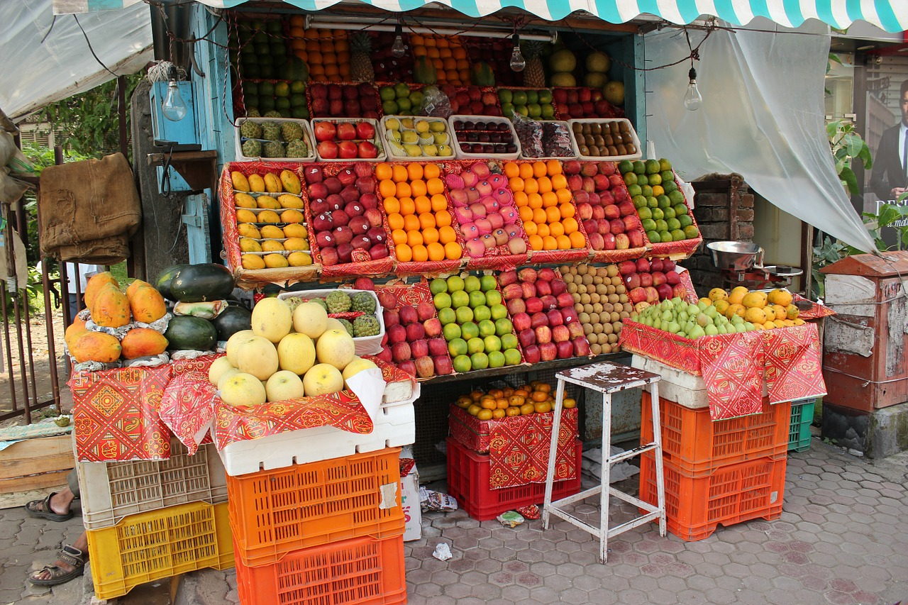 fruit shop fruit vendor street free picture