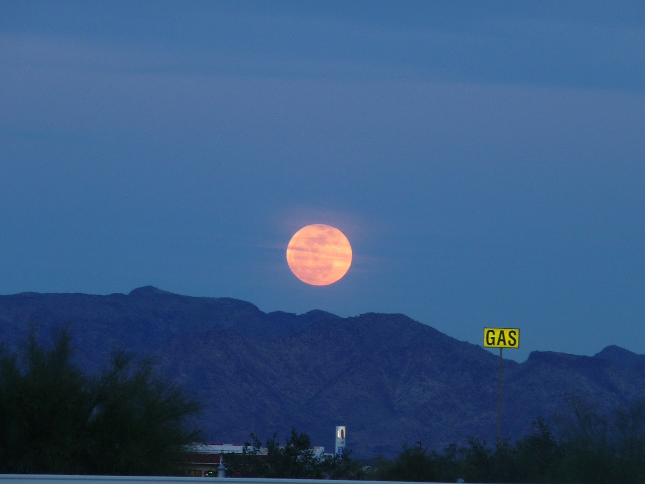 full moon harvest moon quartzsite free photo