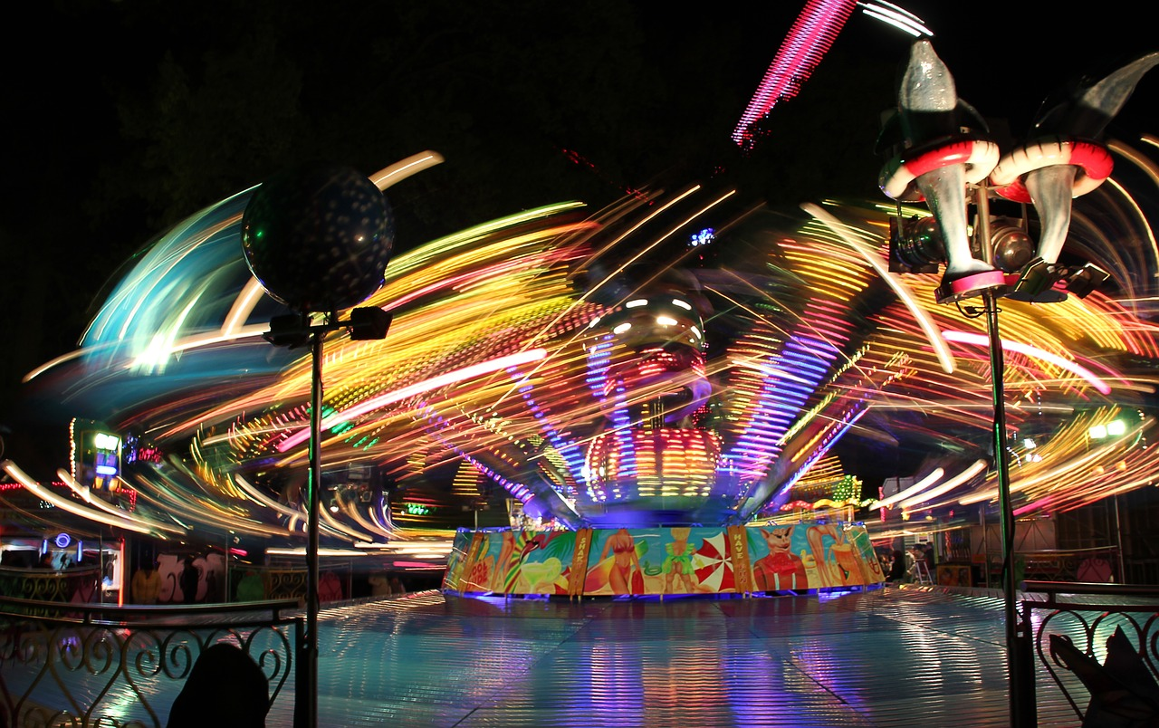 funfair party evening free photo