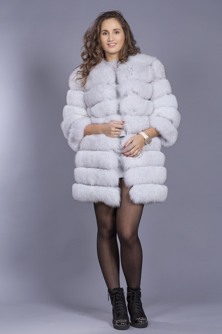 fur coat  model  winter free photo