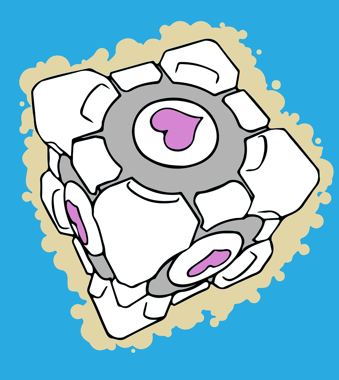 game  companion cube  portal free photo