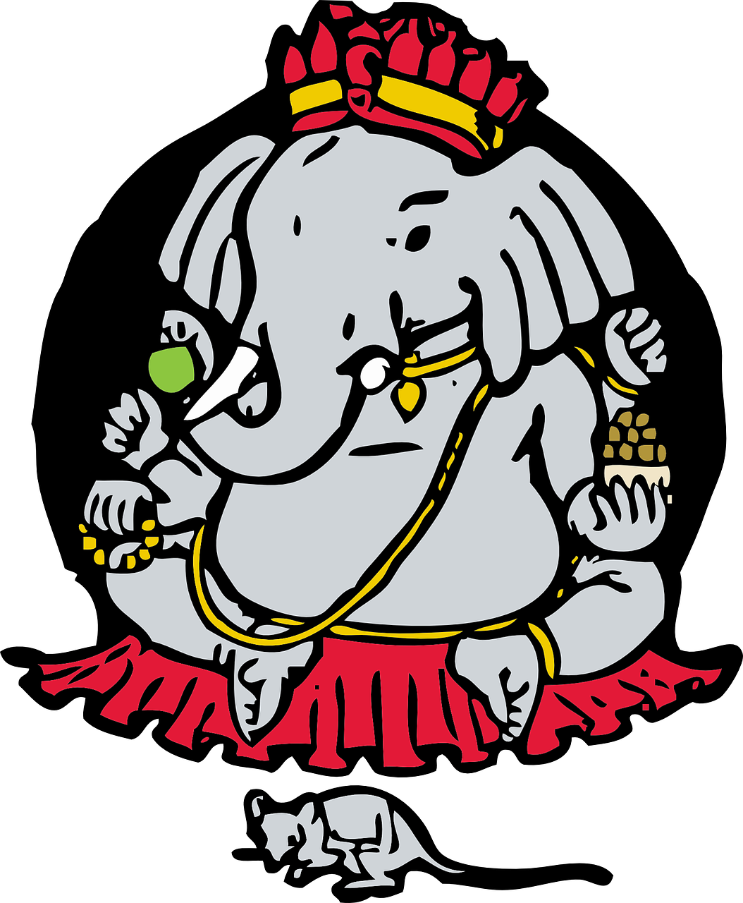 ganesha elephant god mouse free photo