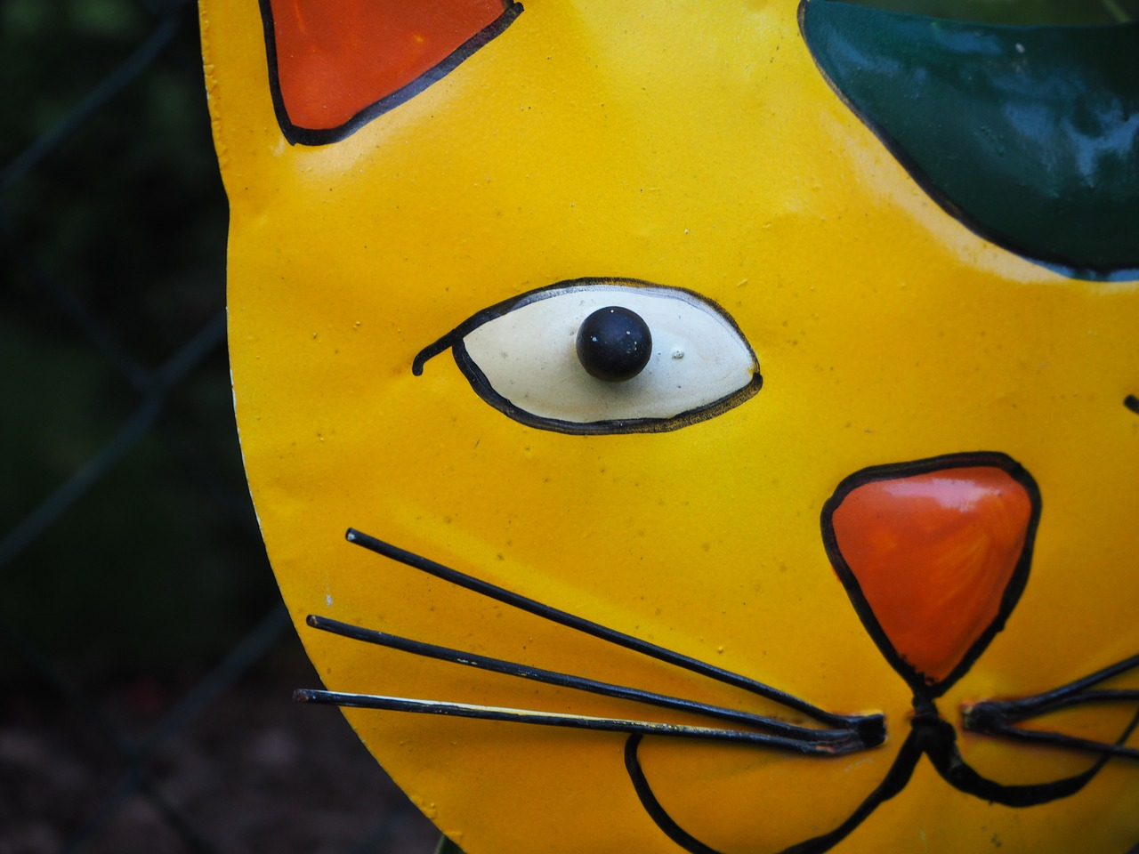 garden decoration cat metal free photo