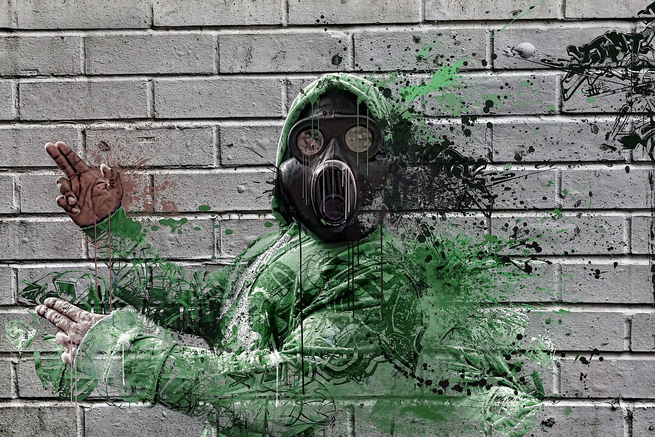 gas mask hip hop gas free photo