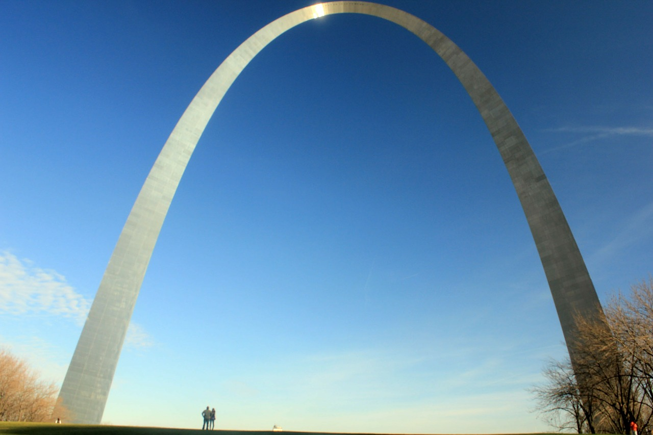 gateway arch architecture monument free photo