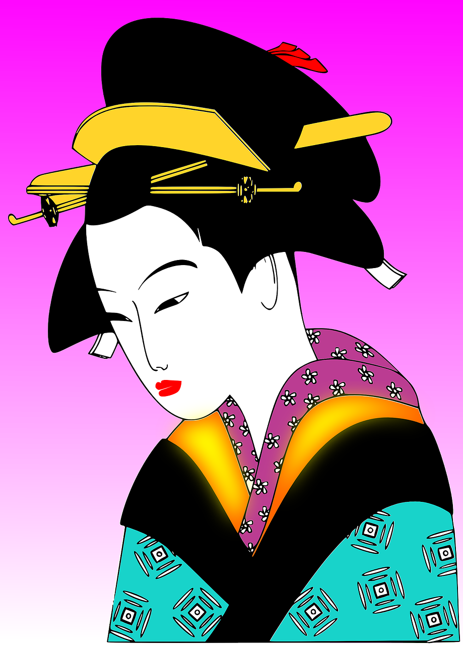 geisha girl japanese traditional free photo
