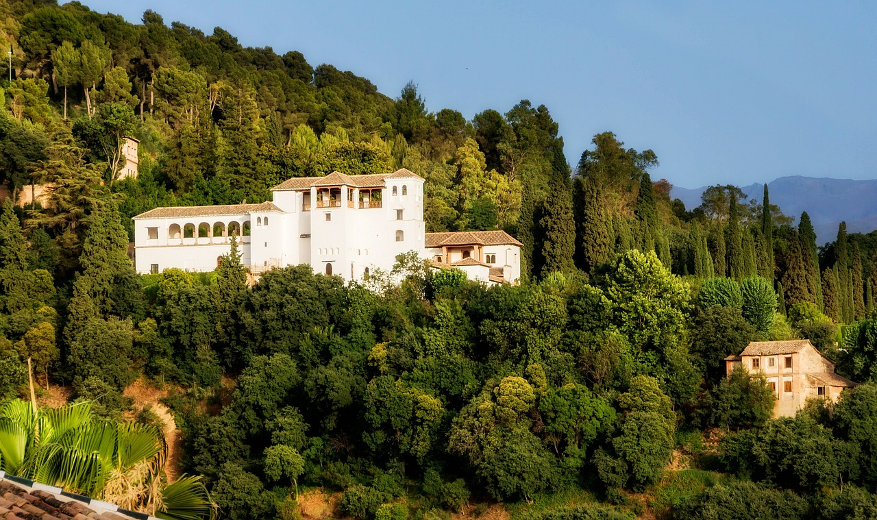 generalife palace buildings architecture free photo