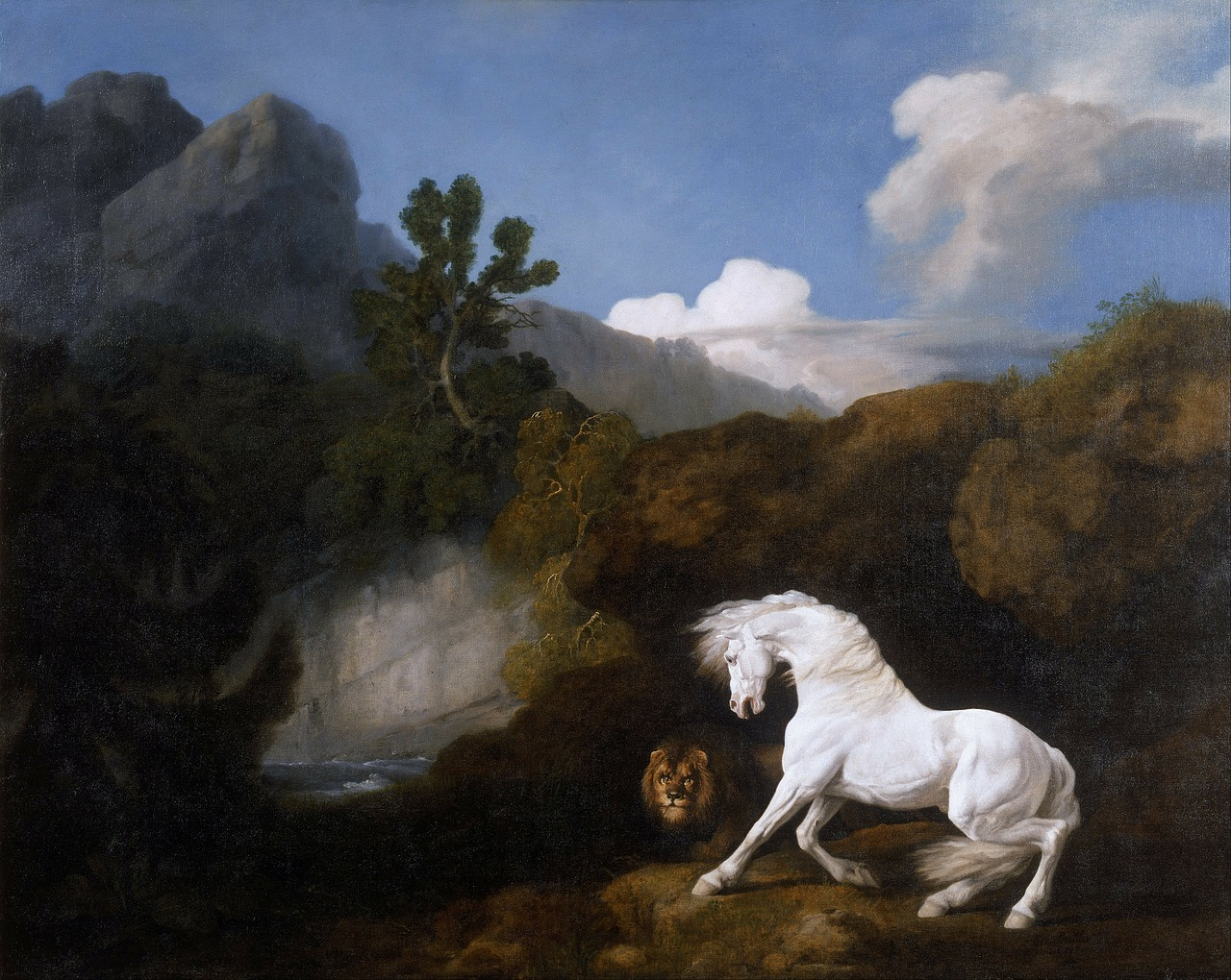 george stubbs landscape painting free photo