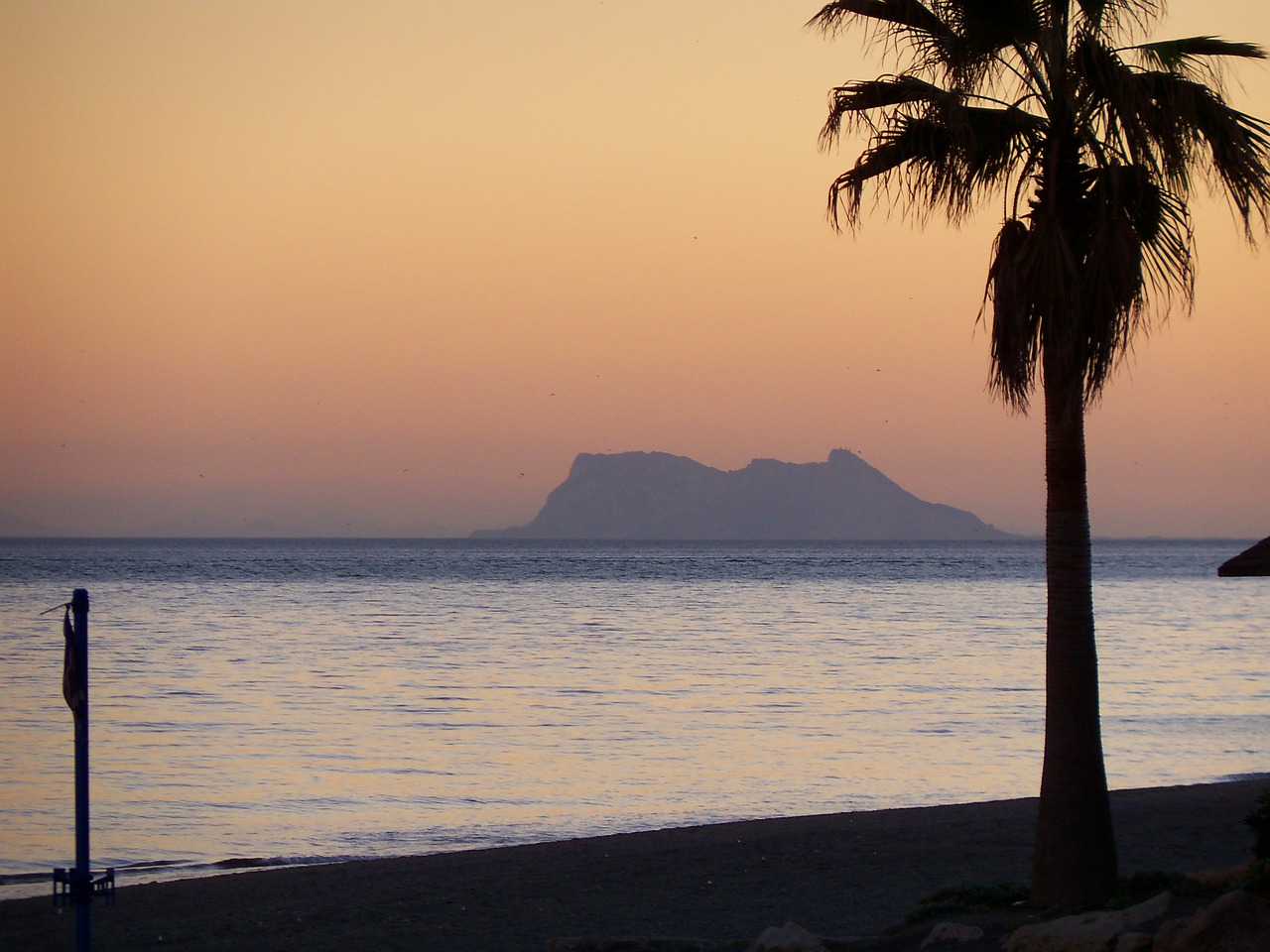 gibraltar sunset beach free photo