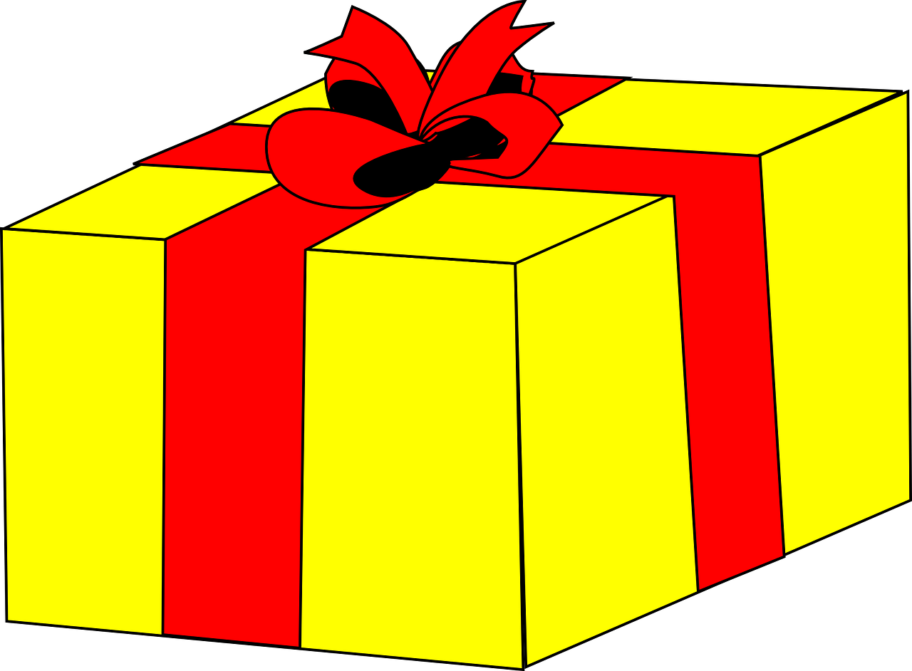 gift box yellow free photo