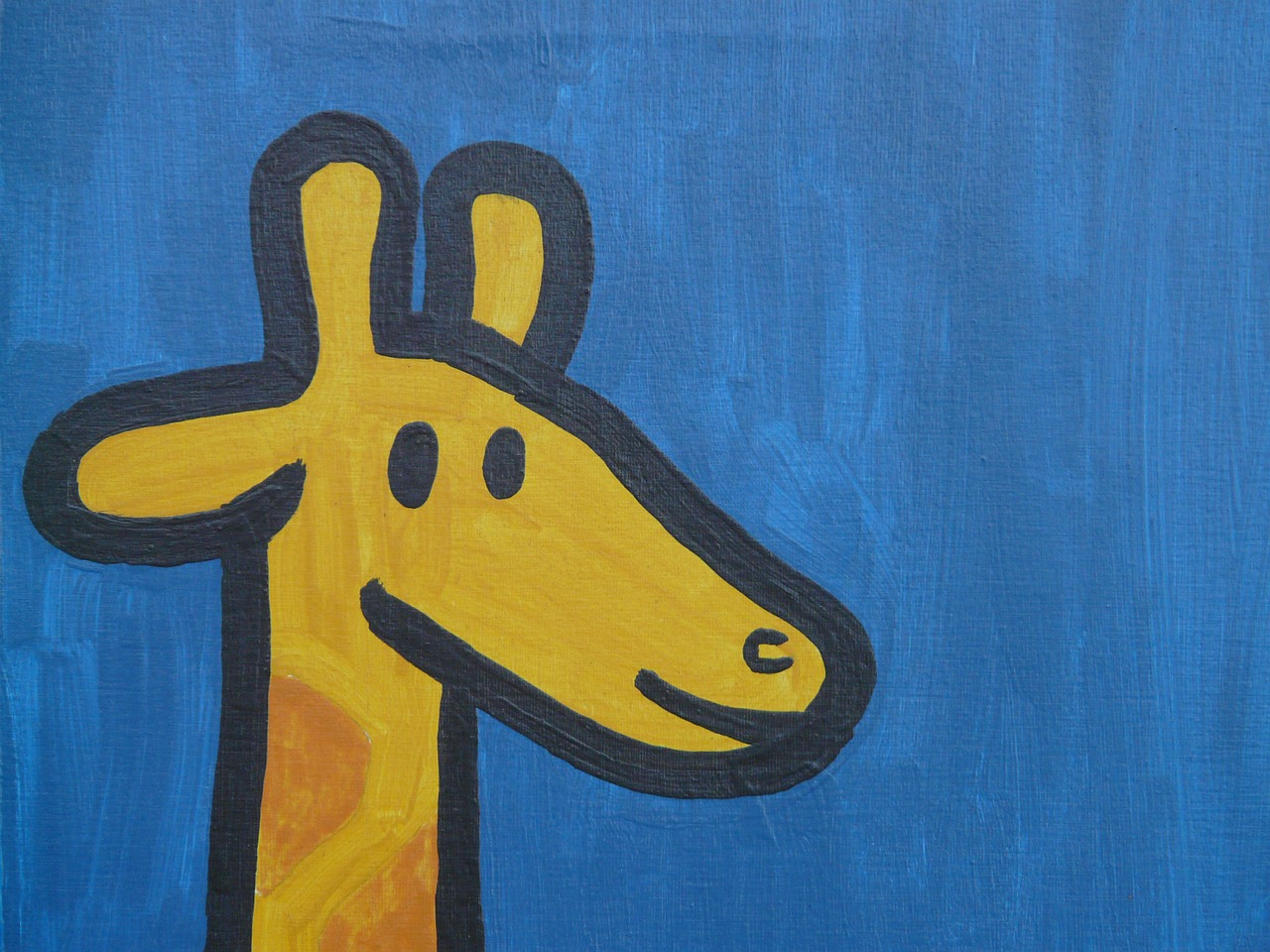 giraffe comic figure free photo