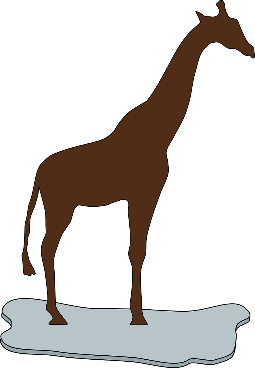giraffe,brown,silhouette,ice,long,neck,animal,wildlife,africa,african,free vector graphics,free pictures, free photos, free images, royalty free, free illustrations, public domain