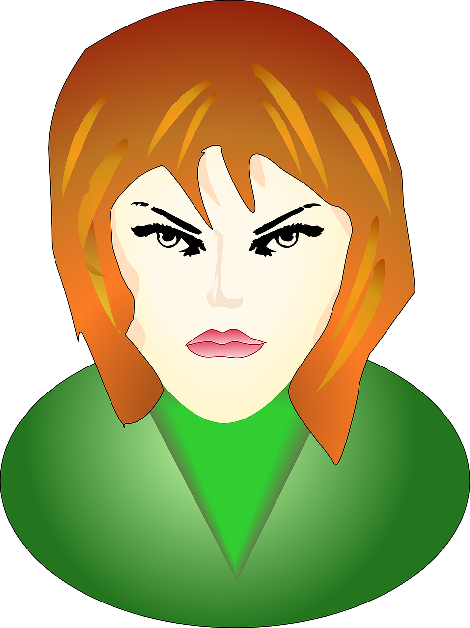 girl angry face free photo