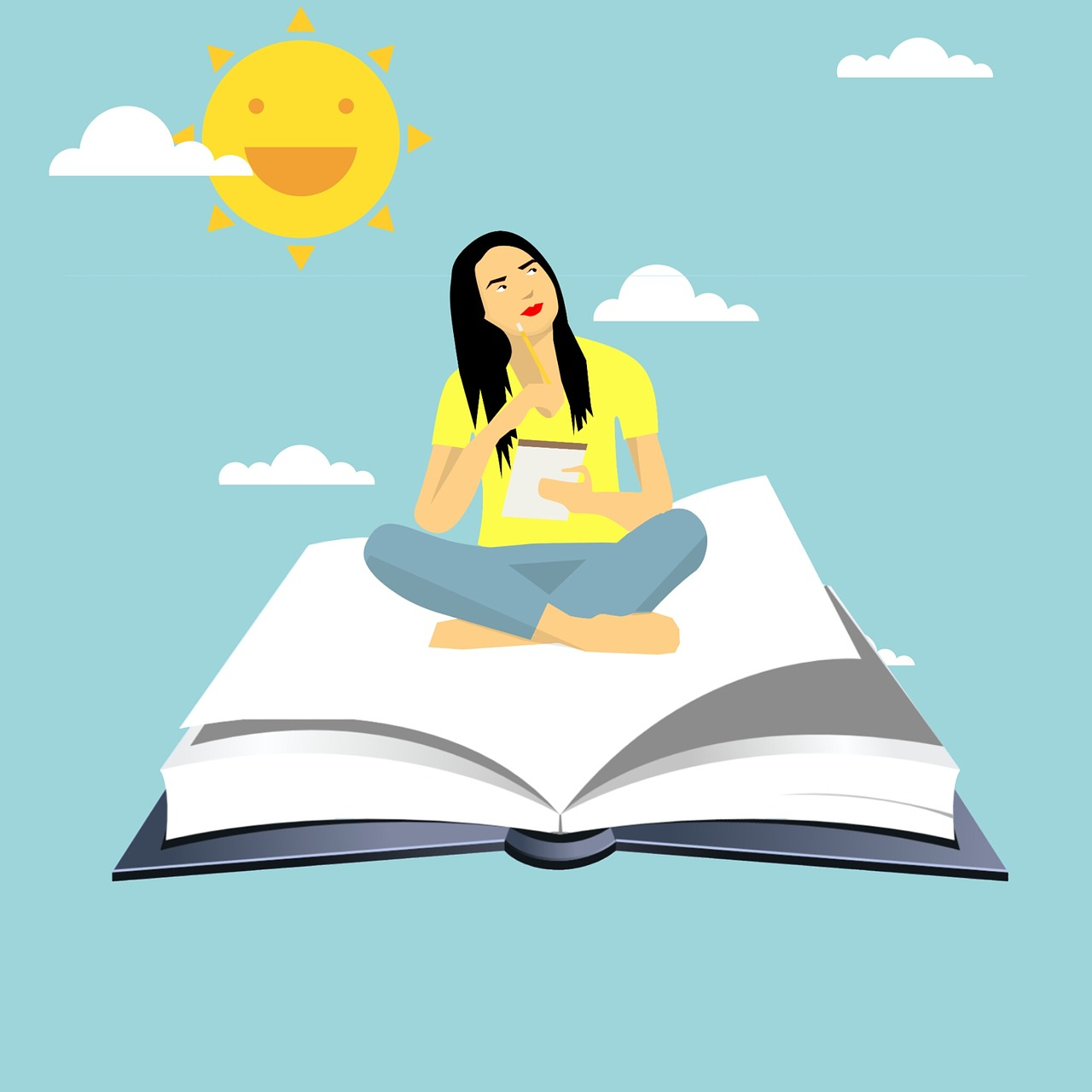Image result for happy reading girl