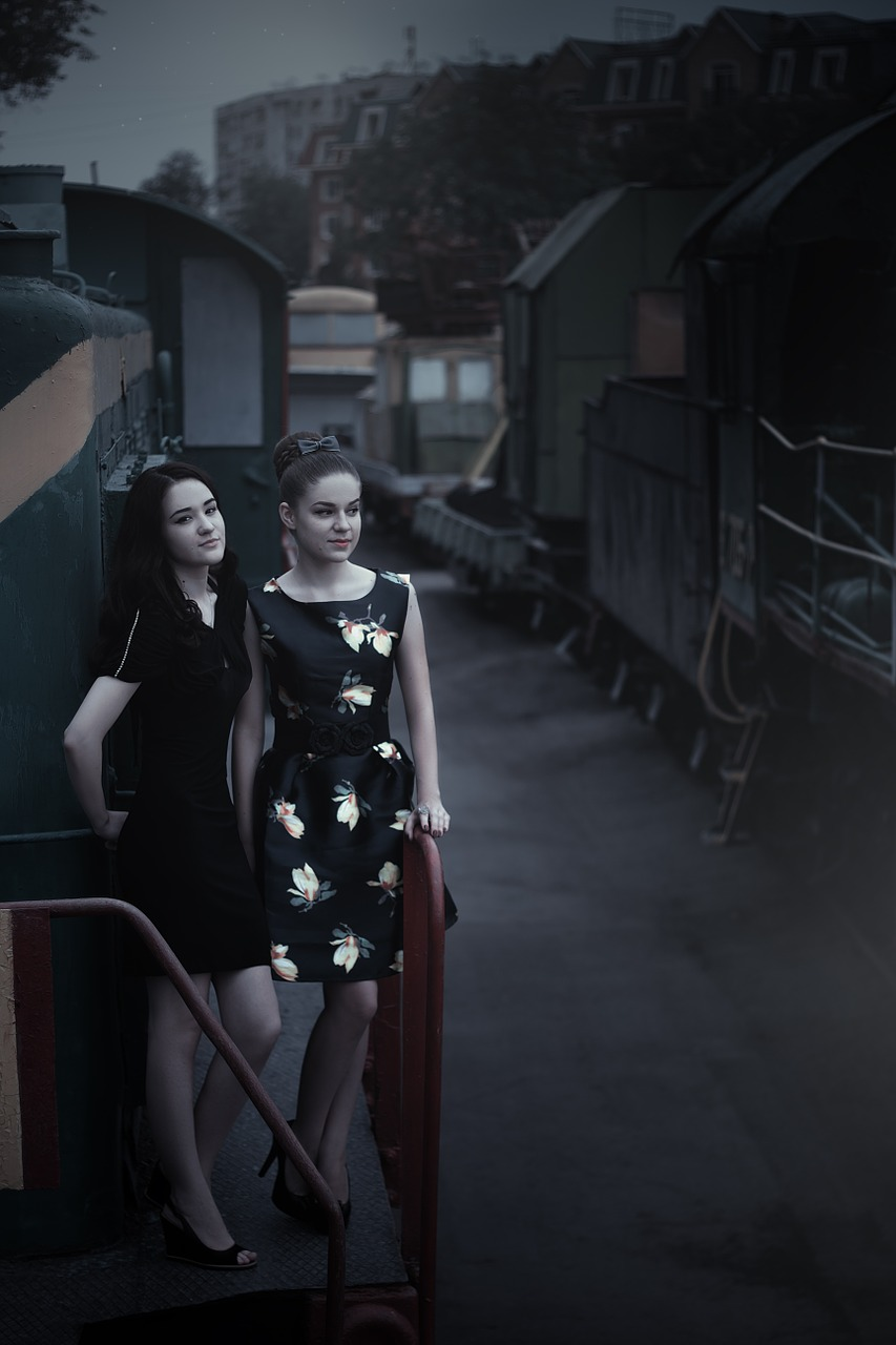 girls at the station,train,pin up girl,beautiful,girl,magazine,photoshoot,photo,photographer,youth,railway carriage,partly cloudy,queen,beauty,style,emotions,model,fashion,portrait,view,hairstyle,dress,posture,free pictures, free photos, free images, royalty free, free illustrations