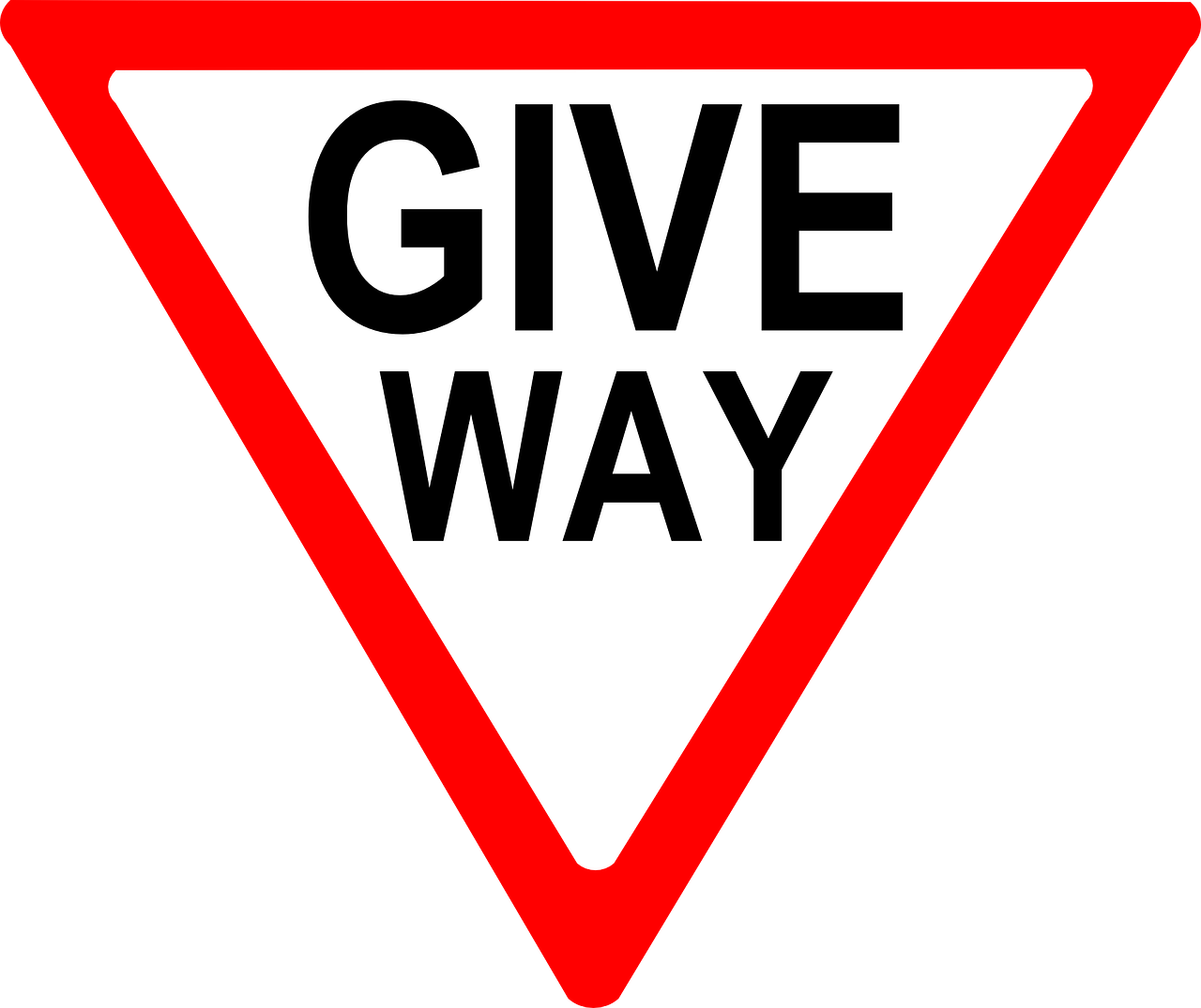 give way way yield free photo
