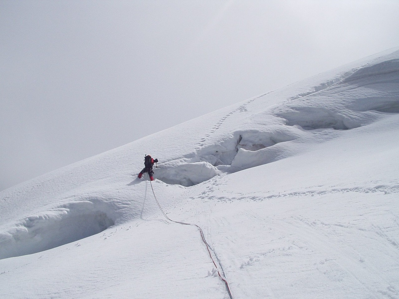 glacier crevasse north wall free photo