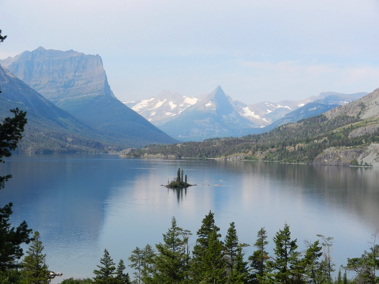 glacier national park lake glacier free photo