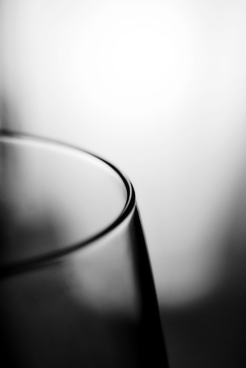 glass edge black and white free photo