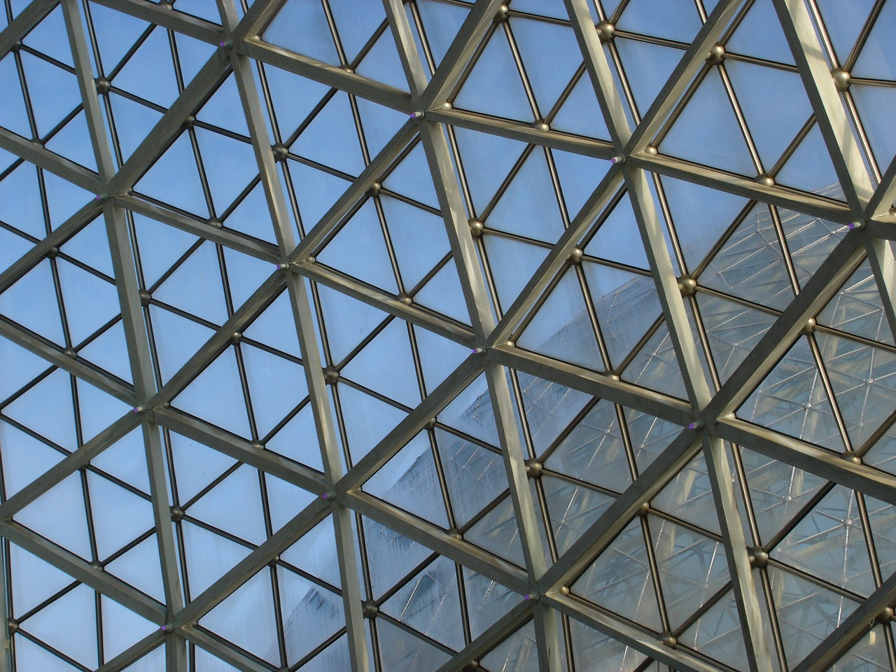 glass roof botanical garden building free photo