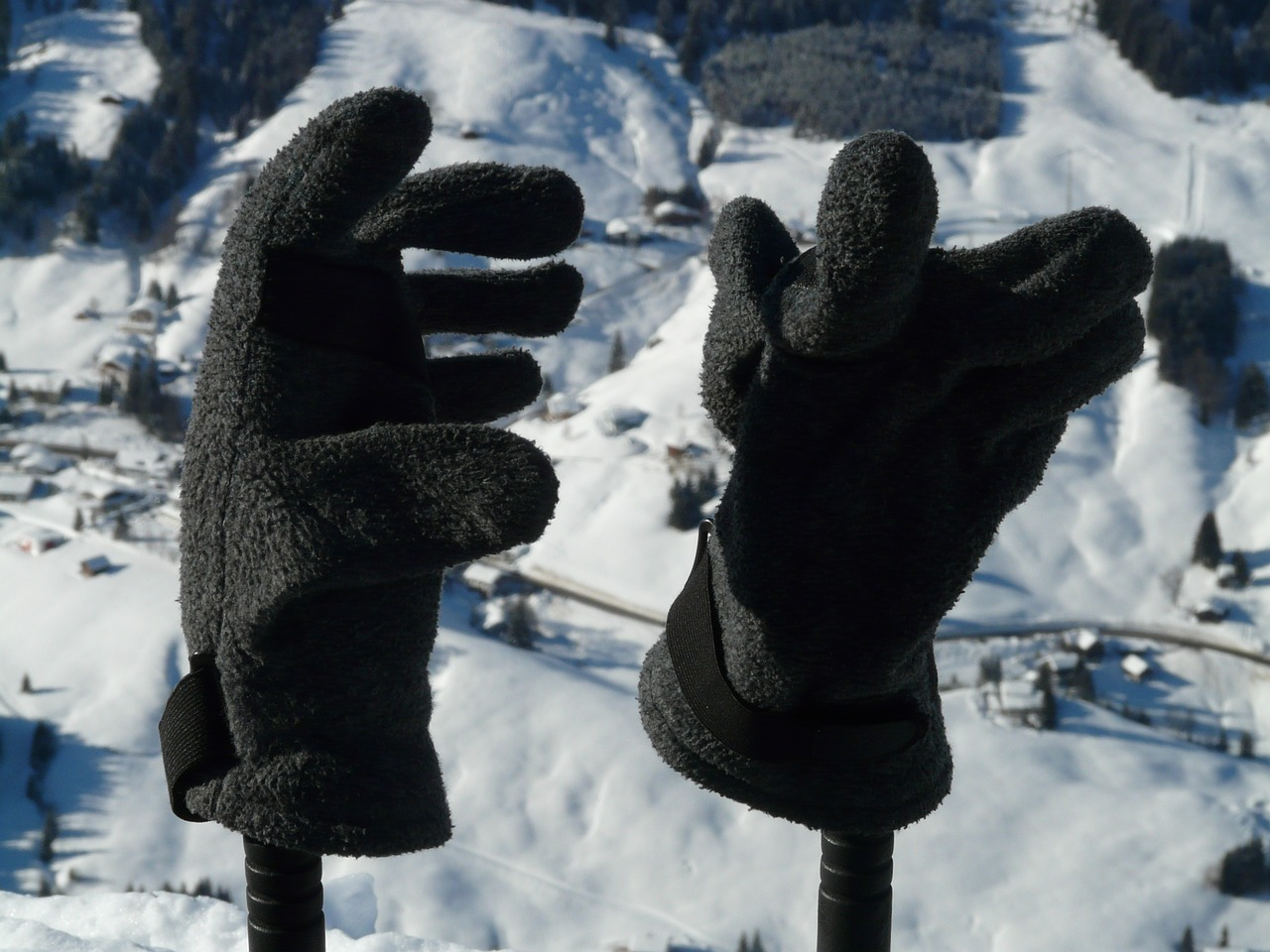gloves winter clothing free photo