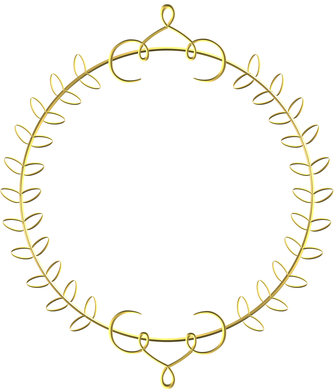 gold frame circle border decoration free photo from
