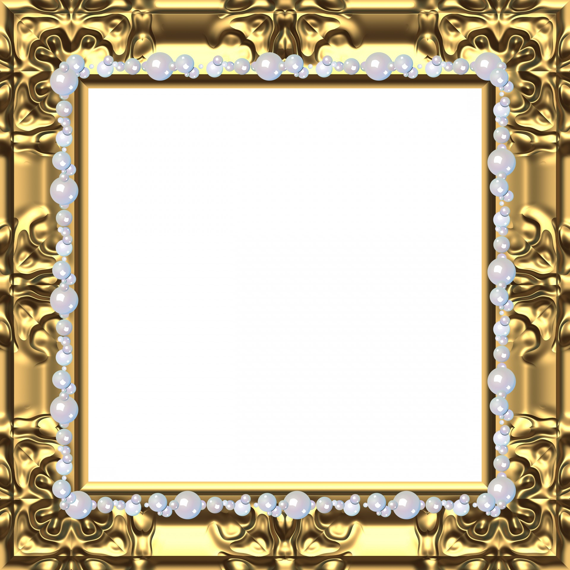 Baroque Frame Gold Free Picture