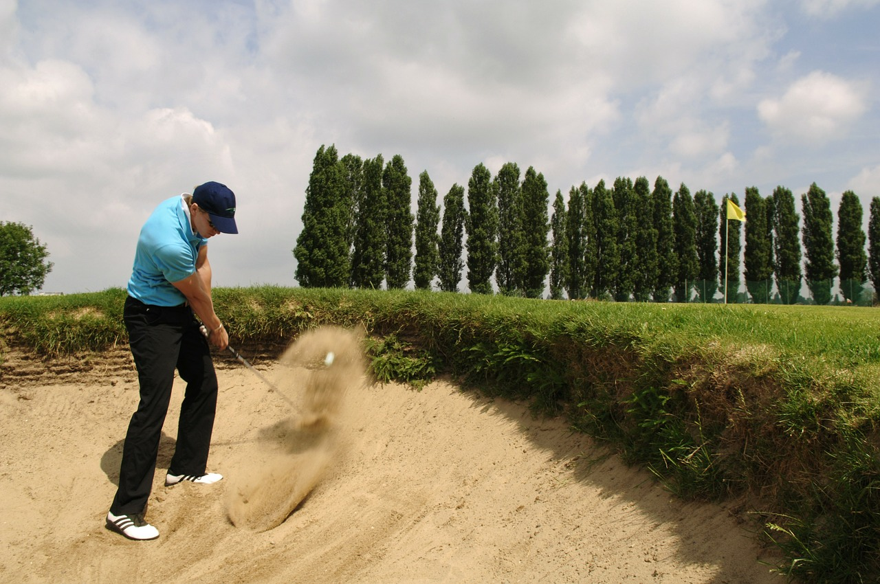 golf bunker sport free photo