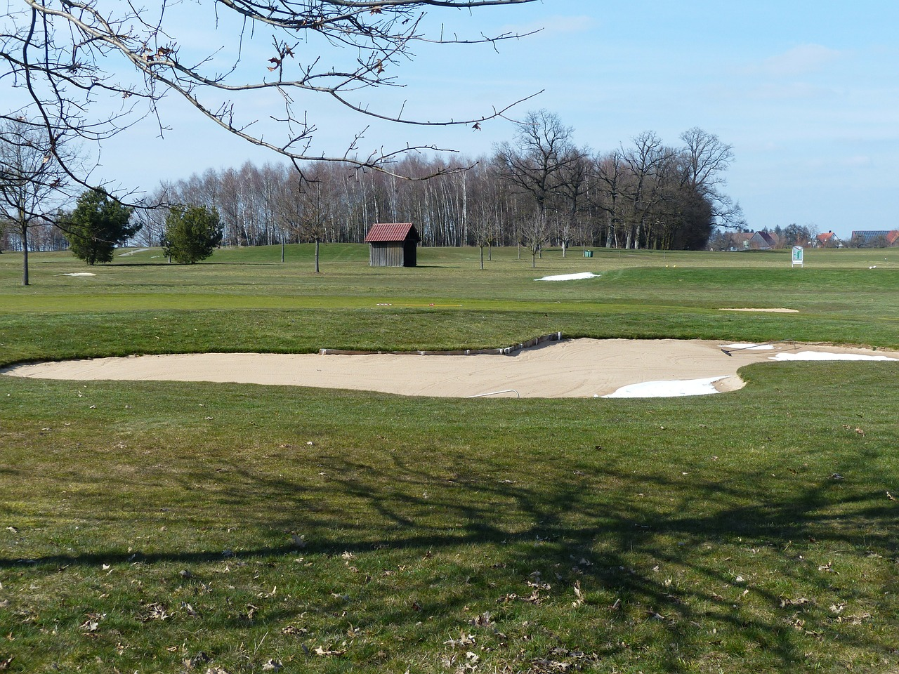 golf course green space bunker free photo